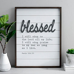 Blessed Pop-up Framed Wooden Wall Plaque