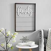 Family Pop-up Framed Wooden Wall Plaque