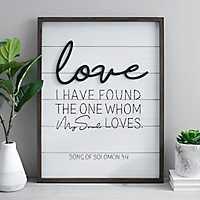 Love Pop-up Framed Wooden Wall Plaque