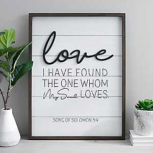 Love Pop-up Framed Wooden Wall Plaque