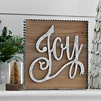 Joy Framed Wooden Wall Plaque
