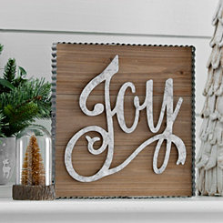 Joy Framed Wooden Wall Plaque