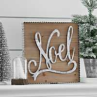 Noel Framed Wooden Wall Plaque