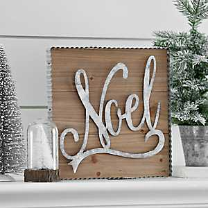 Noel Framed Wooden Wall Plaque