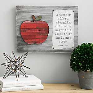 Teacher Affects Eternity Wooden Wall Plaque