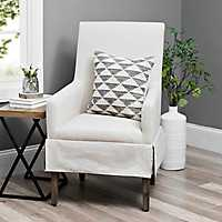 Ivory Mini-Skirted Upholstered Accent Chair