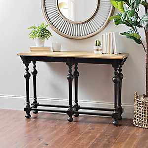 Abigail Distressed Black Console Table, 48 in.