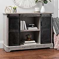 Millie Mesh Metal Sliding Door Cabinet