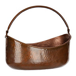 Copper Finished Iron Bucket with Handle
