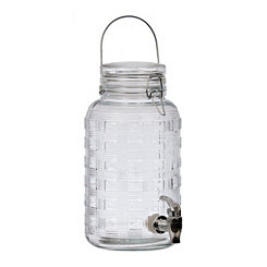 Embossed Plaid Beverage Dispenser