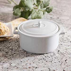 Mini White Ceramic Casserole Dish