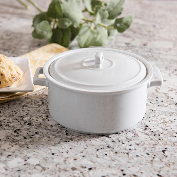 Mini White Ceramic Casserole Dish