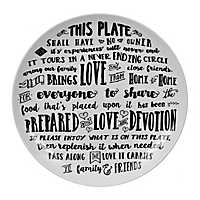 Black and White Giving Plate