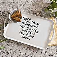 Blessings White Ceramic Tray