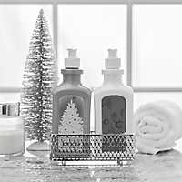 Hand Lotion and Soap Silver Snow Christmas Caddy