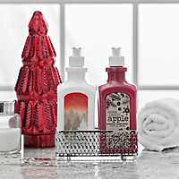Candy Apple Hand Lotion and Soap Caddy