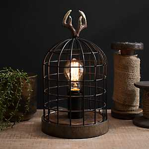 Antler Cage Edison Bulb Table Lamp