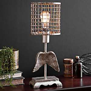 Angel Wings Edison Bulb Table Lamp