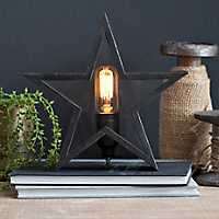 Rustic Bronze Star Edison Bulb Table Lamp