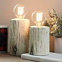 Birch Edison Bulb Accent Lamps, Set of 2