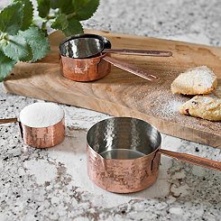 Hammered Copper Measuring Cups, Set of 4