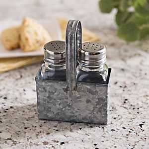 Galvanized Metal Salt and Pepper Set
