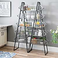 Double A-Frame Metal Shelf Rack