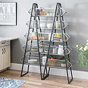Double A-Frame Metal Shelf Rack