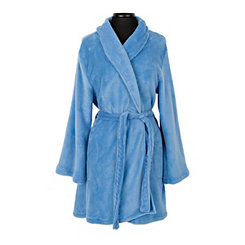 Blue Beauty Plush Women's Robe, L/XL