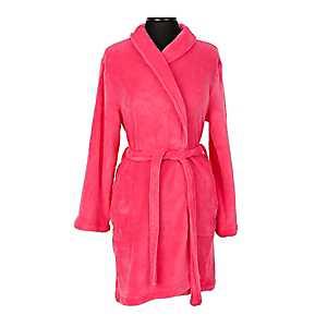 Pink Flawless Plush Women's Robe, L/XL