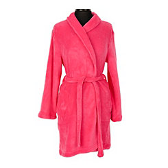 Pink Flawless Plush Women's Robe, S/M
