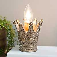 Gold Crown Tabletop Night Light