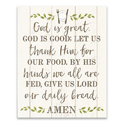 God is Great Canvas Art Print
