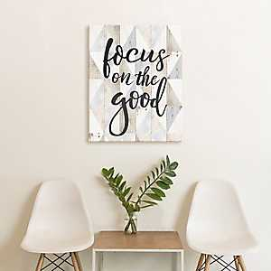Focus on the Good Canvas Art Print
