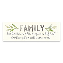 Family Like Branches on a Tree Canvas Art Print