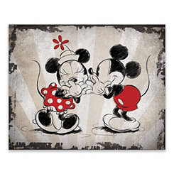 Mickey and Minnie Laughing Canvas Art Print