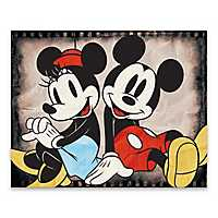 Mickey and Minnie Sitting Canvas Art Print