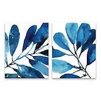 Sapphire Stems Canvas Art Prints, Set of 2