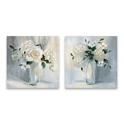 Carolina Bouquet Canvas Art Prints, Set of 2