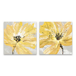 Fleur Jaune Canvas Art Prints, Set of 2