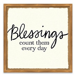 Blessings of Home Framed Canvas Art Print