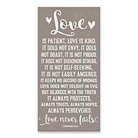 Love is Patient Canvas Art Print