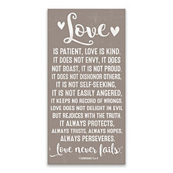 Love is Patient Canvas Art Print