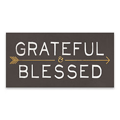Grateful and Blessed Canvas Art Print