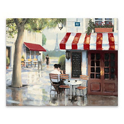 Relaxing at the Cafe Canvas Art Print