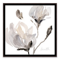Tonal Magnolias Framed Canvas Art Print