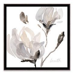 Tonal Magnolias Framed Canvas Art Print