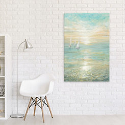 Sunrise Sailboats Canvas Art Print