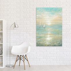 Sunrise Sailboats Canvas Art Print