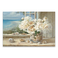 Florals By the Sea Canvas Art Print